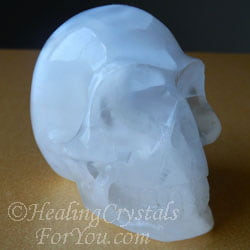 White Selenite Skull