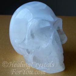 White Selenite Skull