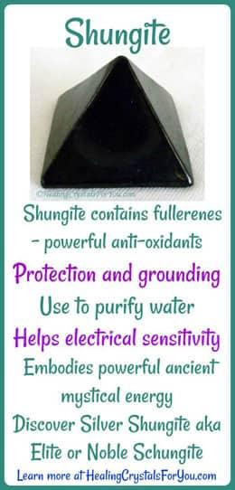 Shungite embodies powerful ancient mystical energy.