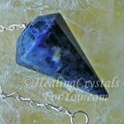 Chevron Amethyst Pendulum