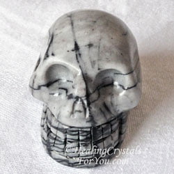Spiderweb Jasper Skull