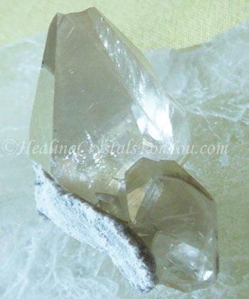 Pale Gold Stellar Beam Calcite