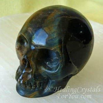 Tiger Eye Crystal Skull