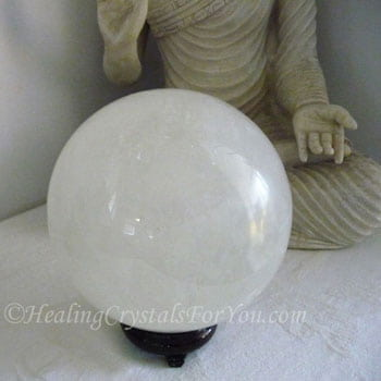 My White Calcite Crystal Ball