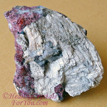 White Agrellite with Pink Eudialyte