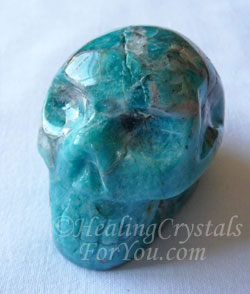 Greenish Blue Amazonite Crystal Skull