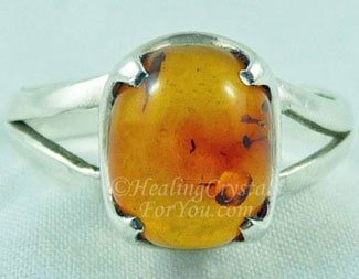 Amber Gemstone Ring