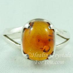 Amber Gemstone Ring