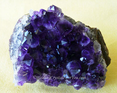 Purple Amethyst Crystal Cluster