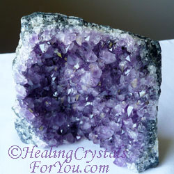 Amethyst are violet flame crystals which aid inner child healing