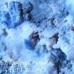 Blue Benitoite in White Natrolite