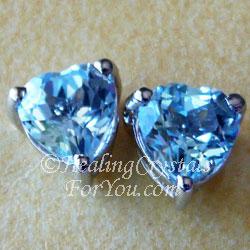 Blue Topaz Gemstone Earrings