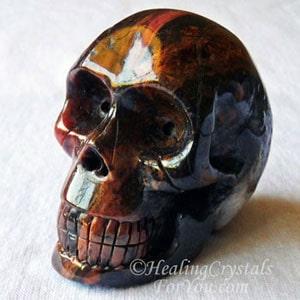 Bustamite Crystal Skull