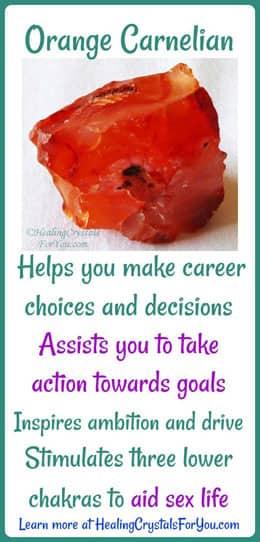 Carnelian aids you to take action