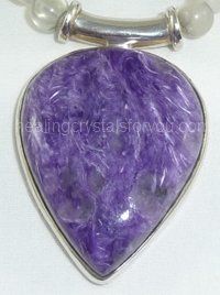 Lavender Charoite Stone Pendant