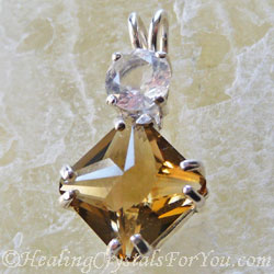 John Of God Citrine and Clear Quartz Pendant