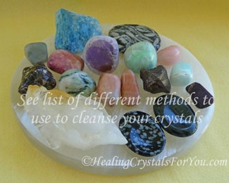 Mixed Crystals Sitting On Selenite