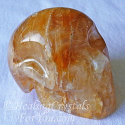 Golden Healer Quartz Crystal Skull