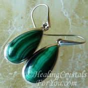 Malachite Earring