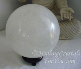 My White Calcite Crystal Ball