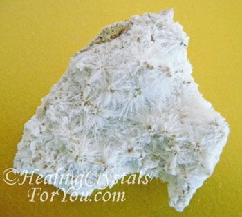 Natrolite on Calcite