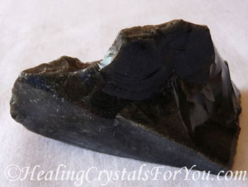 Natural Black Obsidian Stone