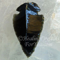 Black obsidian stone cleanses negative psychic smog from aura black obsidian spear pendant aloadofball Choice Image