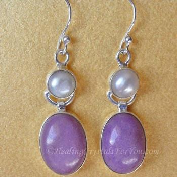 Lavender Phosphosiderite Earrings