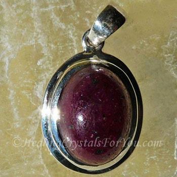 Ruby stone stimulates energy vitality and sensuality ruby stone pendant aloadofball Images