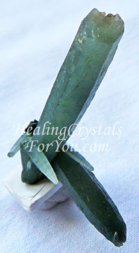 Seriphos Green Quartz aka Prasem Hedenbergite Green Quartz