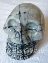 Spider Web Jasper Skull