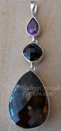 Smokey Quartz Crystal Pendant