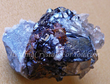 Sphalerite with Stellar Beam Calcite