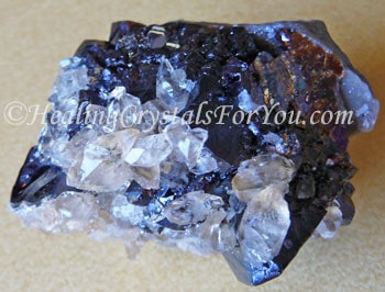 Stellar Beam Calcite On Sphalerite