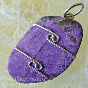 Purple Stichtite Pendant