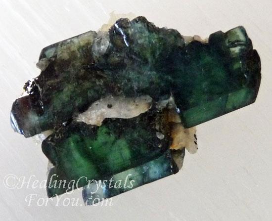 Blue Green Crystalline Vivianite Specimen
