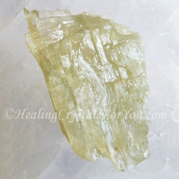 Light Yellow Green Hiddenite Crystal
