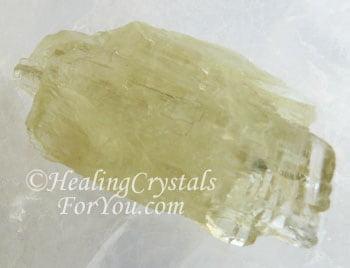 Light Yellow Green Hiddenite Crystal